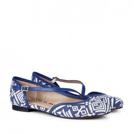 Yolanda, Ballet Flat ♥ Color: Blue Crema