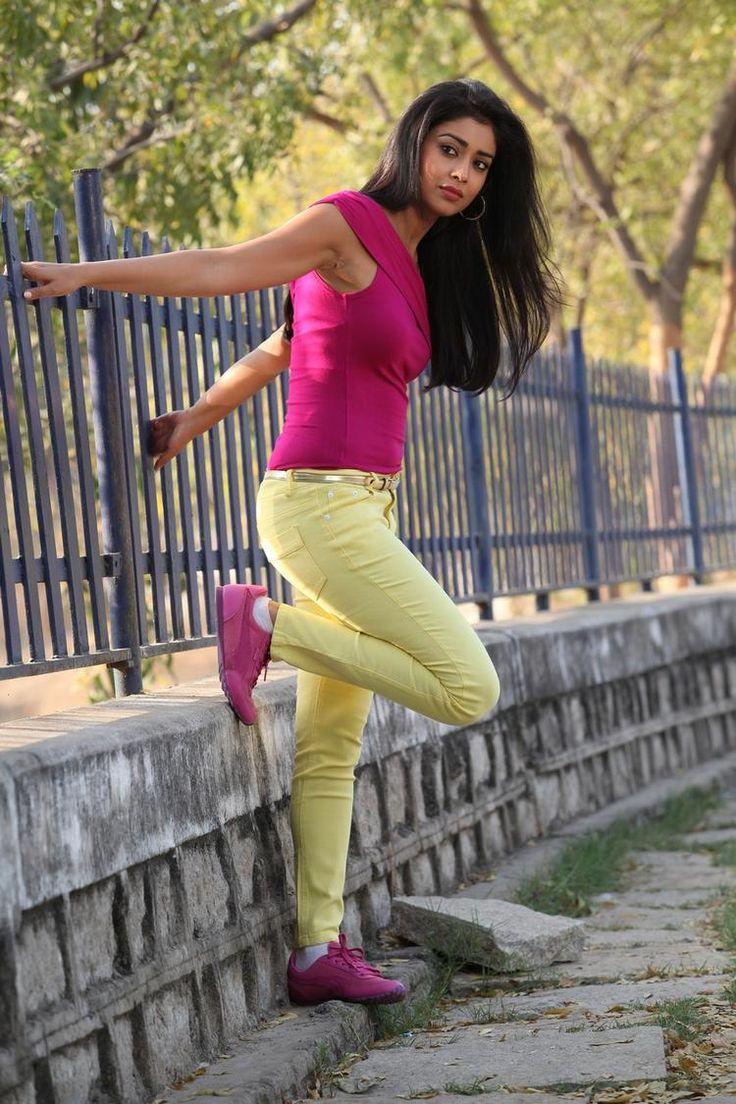 Bollywood actress Shriya Saran poses for her fans