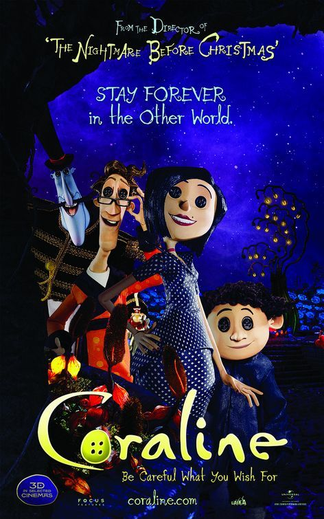 Coraline Movie Poster(different styles)