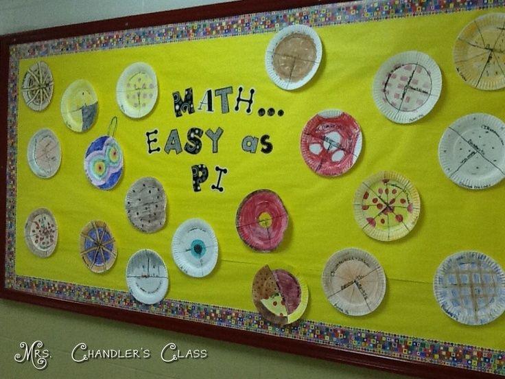 middle school Math Bulletin Boards | Our Pi Day Bulletin Board