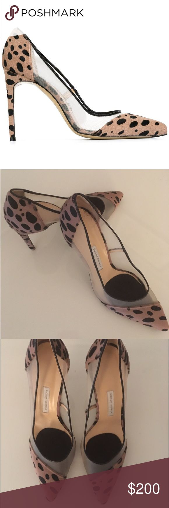 """Bionda Castana Leopard Calf Hair/Mesh Stilettos Sexy 4"""" stilettos by Bionda Castana. Calf hair leopard pattern outer with kid leather lining. Worn once, inside, for a couple of hours. Excellent condition! Bionda Castana Shoes Heels"""