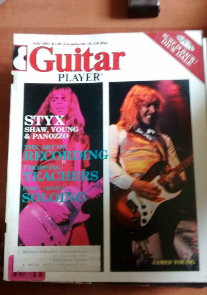 Guitar Player Mag good condition July 1981