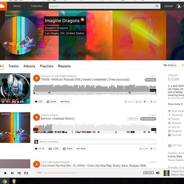 Imagine Dragons reposted me ! :) #imaginedragons #TRN18 #mkmusic #drumandbass #breaks #breakbeat #dance