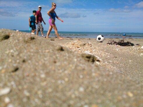 Beach soccer on LongBay