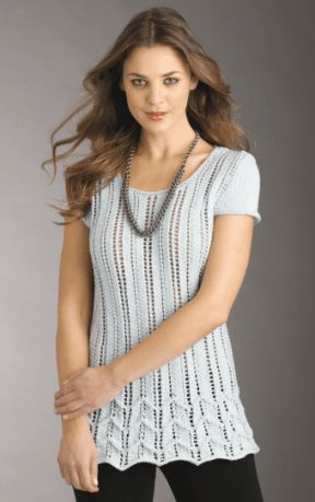 Lacy Chevron Sweater Free Knitting Pattern | Free Knitting Patterns for Tops, Tees, and Tanks