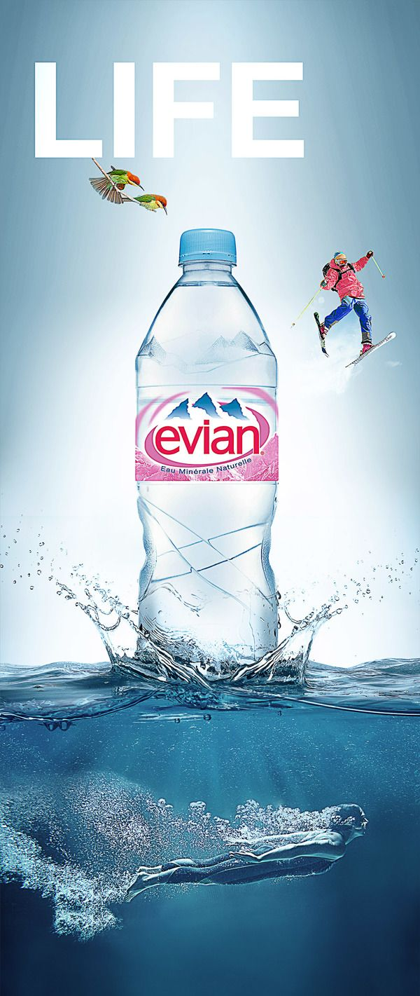 Evian Life Campaign Face 01 Amp 02 On Behance Ads