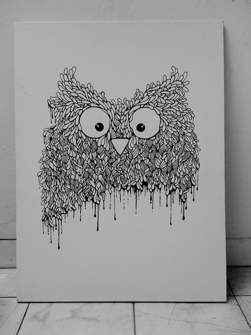 the owl painting project from the babybirds