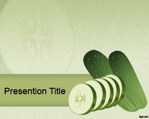 Cucumber PowerPoint template is a free vegetable template for PowerPoint presentations that you can download to make awesome presentations on vegetables, food and nutrition