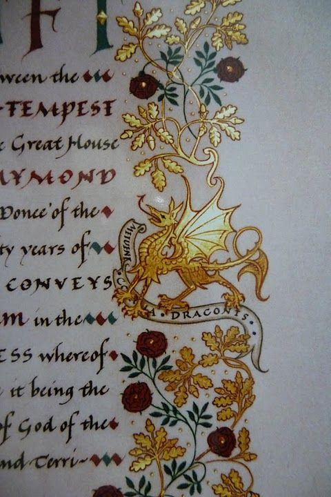 Best. Dragon. Ever. From Andrew Jamieson. http://www.jamiesongallery.com/illuminatedmanuscripts.html