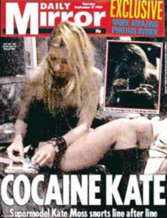 Front page news - for all the wrong reasons: The 'drugs and rock star lifestyle' revelations almost wrecked her career in 2005.