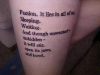 Passion. - one of the best Buffy quotes