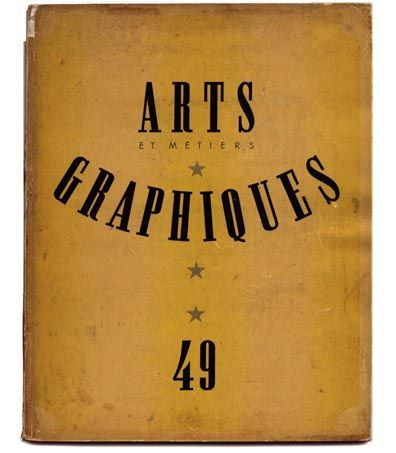 Arts & Métiers graphiques (1927-1939) #design #book #cover #typography