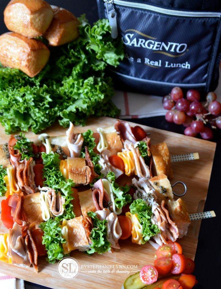 Classic Sandwich Skewer Recipes | cold cut & club sandwiches on a stick