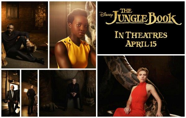 """It's time to meet the cast behind the characters of Disney's The Jungle Book, in theaters April 15th! """"Voiced by Idris Elba, Shere Khan bears the scars of"""