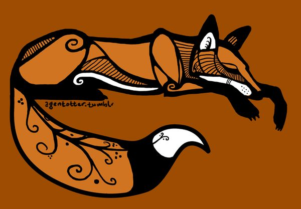 Sleeping Red Fox (Curled up variation) by agentotter.deviantart.com on @deviantART