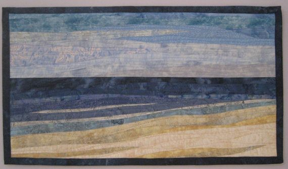 Day at the Beach 4 by ArtQuiltsBySharon on Etsy, $150.00