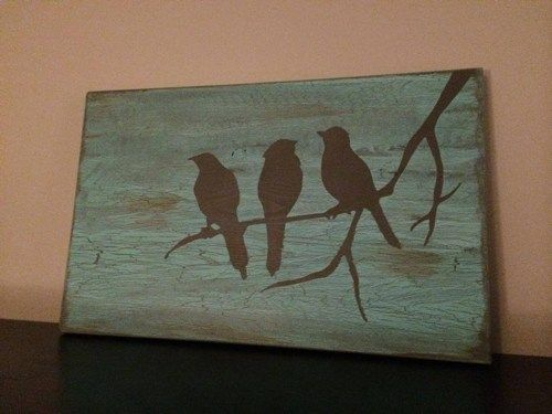Birds on a Branch Primitive Rustic Wood Sign | SignsofElegance - Housewares on ArtFire