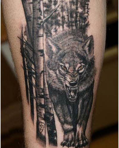 best wolf tattoos our top 10 tattoo pinterest forest tattoos wolf and tattoo. Black Bedroom Furniture Sets. Home Design Ideas