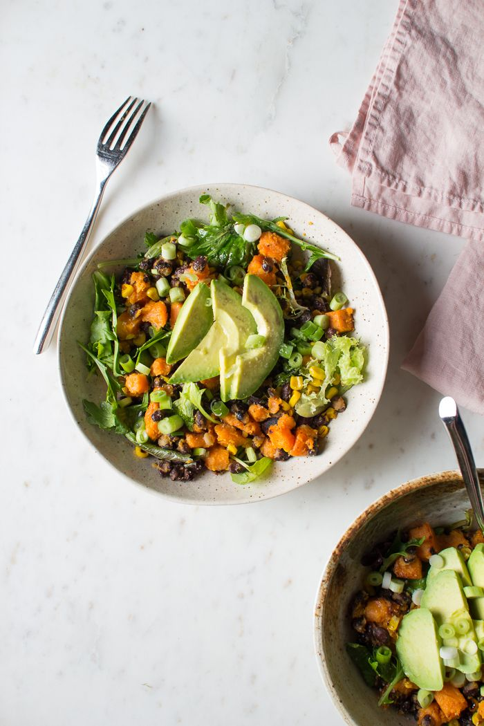 Flourishing Foodie: Sweet Potato, Black Bean, and Corn Salad with a Maple Lime Dressing