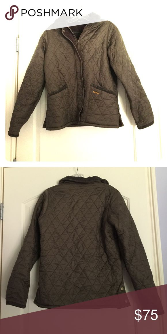 Quilted/ fleece lined Brown Barbour Jacket Thick winter Barbour jacket, worn about 3 times, in good condition. Brown quilt material with brown corduroy collar and brown fleece lining Barbour Jackets & Coats