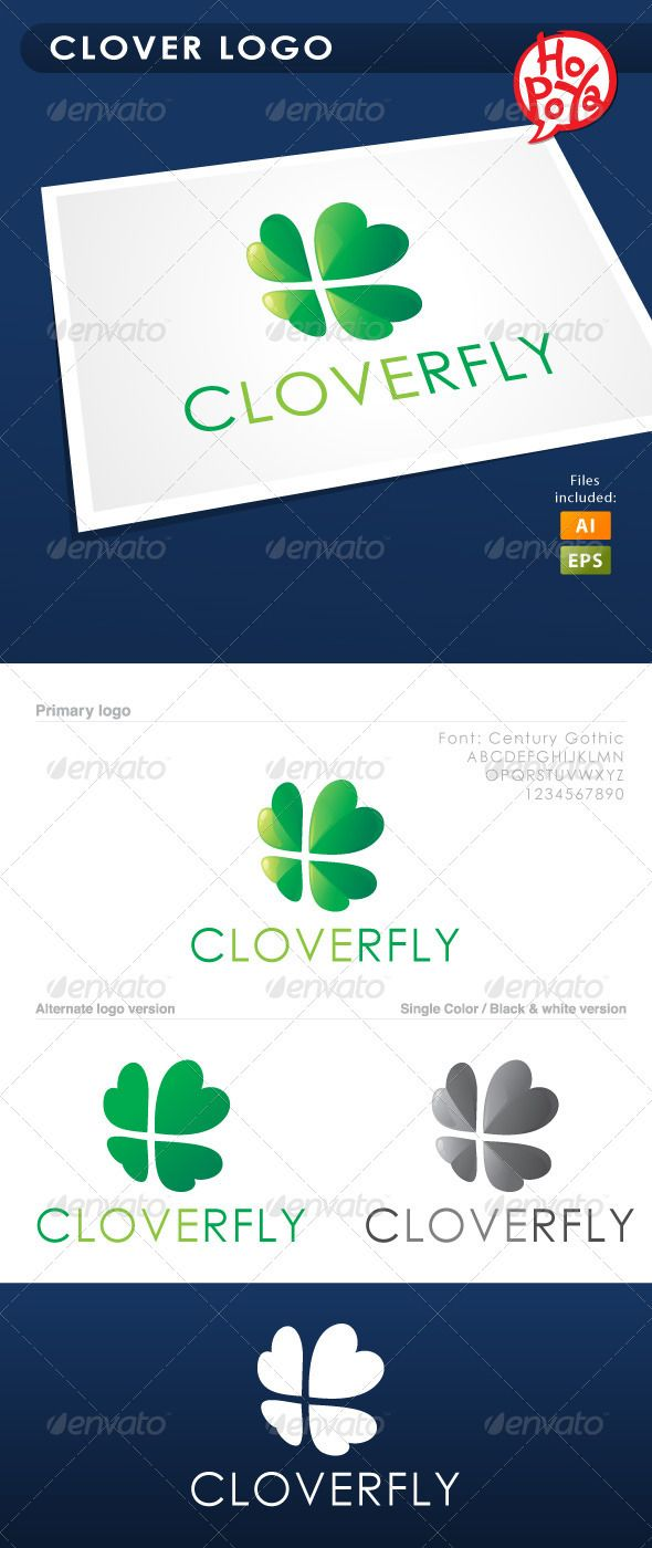 Clover Logo  #GraphicRiver         Clover logo template for your business works. Layered files, 100% vector. Font used: Dosis SemiBold You can find it here:  .google /webfonts/download?kit=J176RdkKZjRZ9VdEP_Q0Iw Files are EPS8 and AICS2 compatible and editable.     Created: 18June12 GraphicsFilesIncluded: VectorEPS #AIIllustrator Layered: Yes