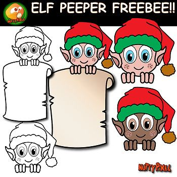 These cute elves peepers are the first of my Chirstmas themed clipart and best of all, they're free!! everything you see on the preview is included plus the black and white version. Hope you all enjoy :) All images are at 300dpi, so you can enlarge them and they will still be crisp.