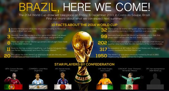 30 FIFA World Cup 2014 Infographics
