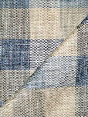 Plateau River Plaid Fabric Decorative Raw Silk Look Buffalo Check