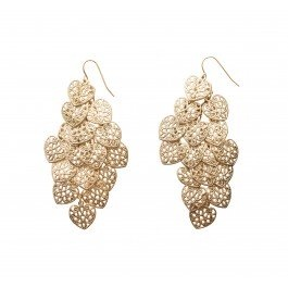 These earrings will look great with a white dress and loads of layered gold necklaces!