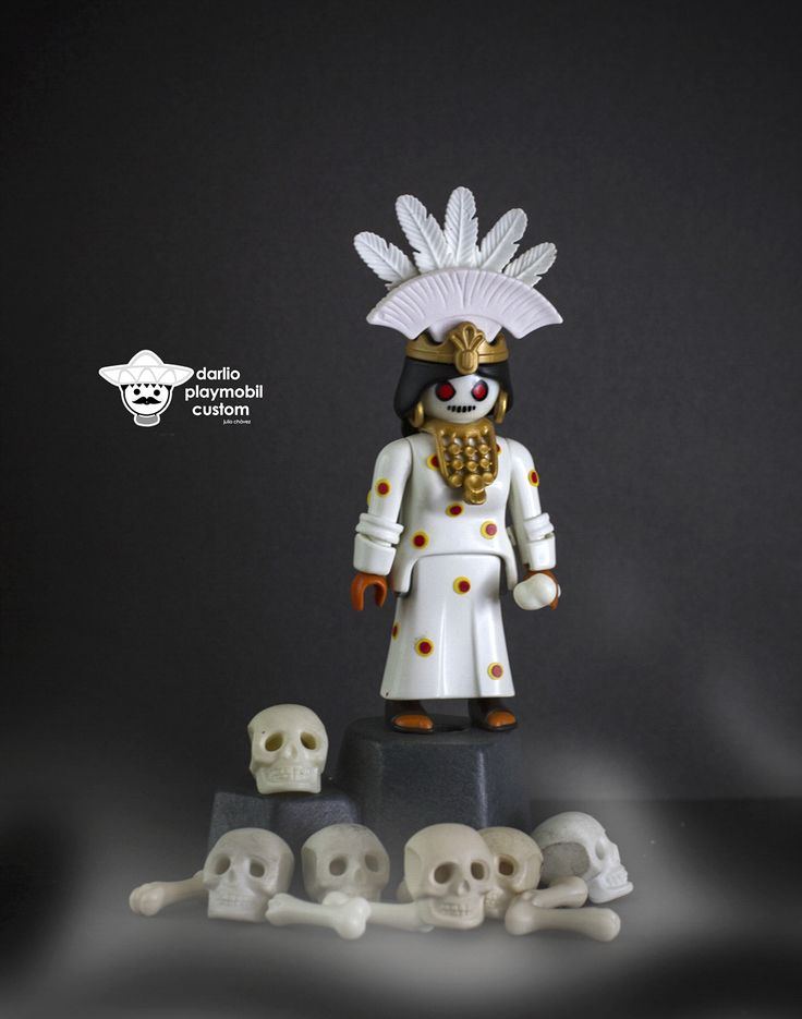 Mictecacihuatl Señora de las personas muertas Lady of the death people for mexicas Playmobil Custom