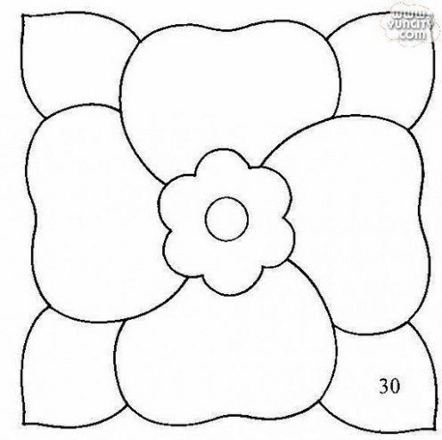 Moldes e Riscos para patchwork embutido   Artesanato Humor de Mulher