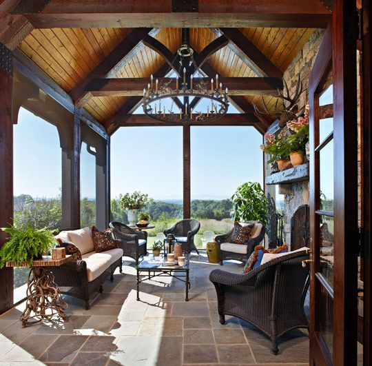 Old World Style In A Farmhouse Veranda Martin Landscape
