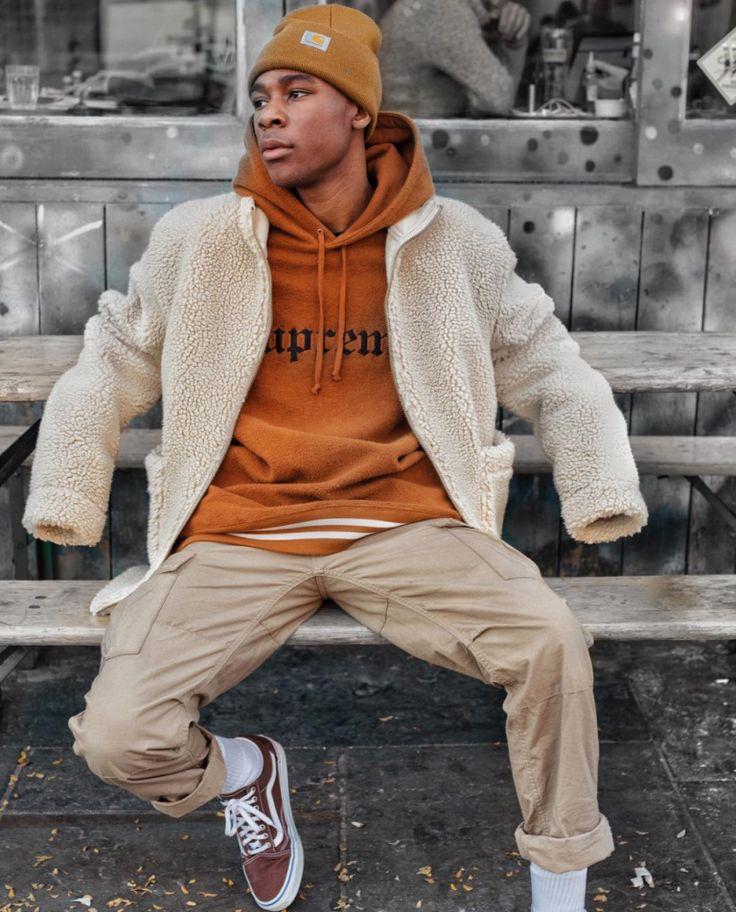 How to style hoodies this winter. #HoodieOutfits #HoodieStreetstyle #Menswear