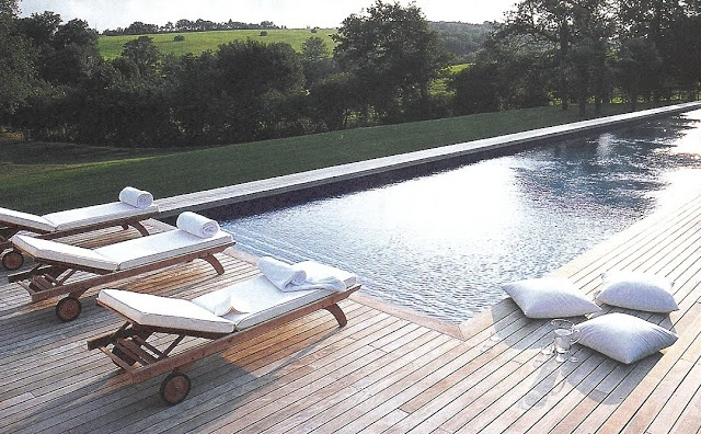 Côté Sud - pool, wood deck, countryside view edited by lb for (l)