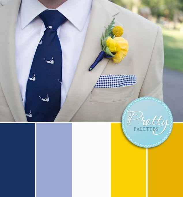 Nautical Wedding Colors - Pretty Palettes #13 (Photo Source • Lyndie Dourthe)