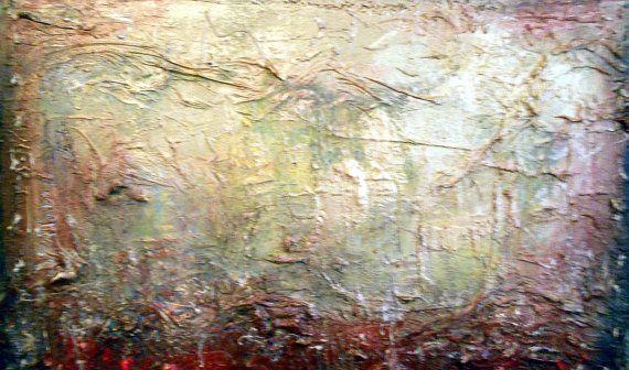 arte pittura astratta steampunk spatola pittura arte di mattsart
