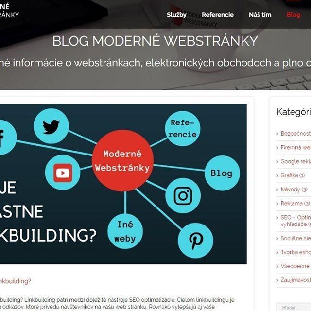 📇Chcete vedieť čo je linkbuilding a ako sa dá využiť? Tak navštívte náš blog a prečítajte si najnovší článok!💻✔️😉 #blog #clanok #praca #sluzby #slovakia #slovensko #modernewebstranky #webdesign #webdeveloper #webpage #developer #UX #UI #interface #redesign #branding #inspiration #logo #design #graphicartist #logodesigner #logoinspirations #creativity #trends #presentation #article #seo