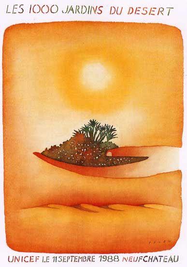 Les 1000 jardins du desert - FOLON