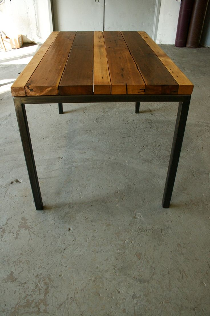 Reclaimed wood and metal table Bespoke made to measure