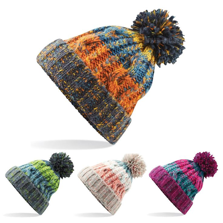 New cable #knitted bobble hat plain mens #womens beanie warm winter pom #wooly ca,  View more on the LINK: http://www.zeppy.io/product/gb/2/302138104890/
