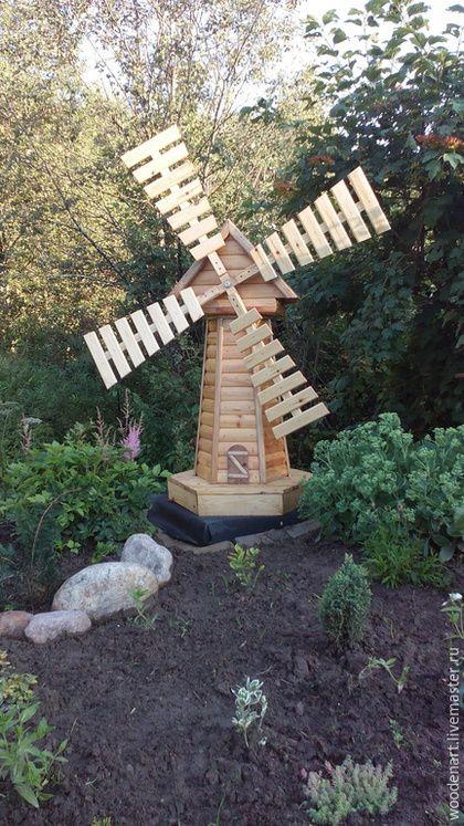 Handmade Exterior e dando.  Mestres Fair - handmade.  Compre decorativo moinho de vento.  Handmade.  A usina, jardim, projeto da paisagem