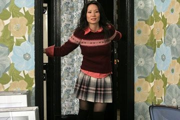 Lucy Lu, Lucky number slevin. Love the outfit!