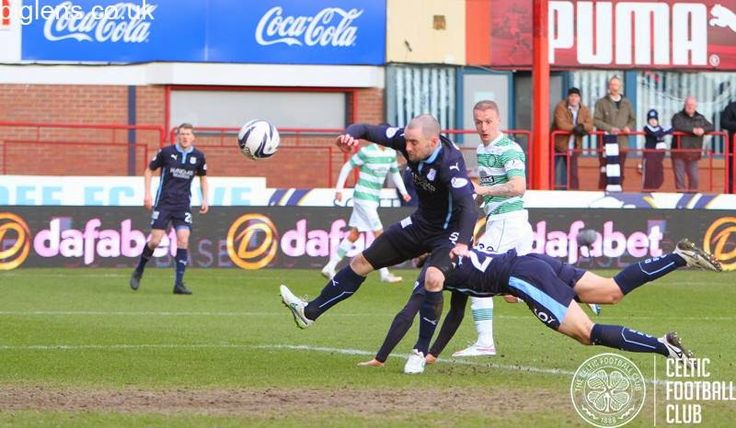 Dundee 0-2 Celtic, 7th February 2015. Leigh Griffiths heads the Bhoys in front.