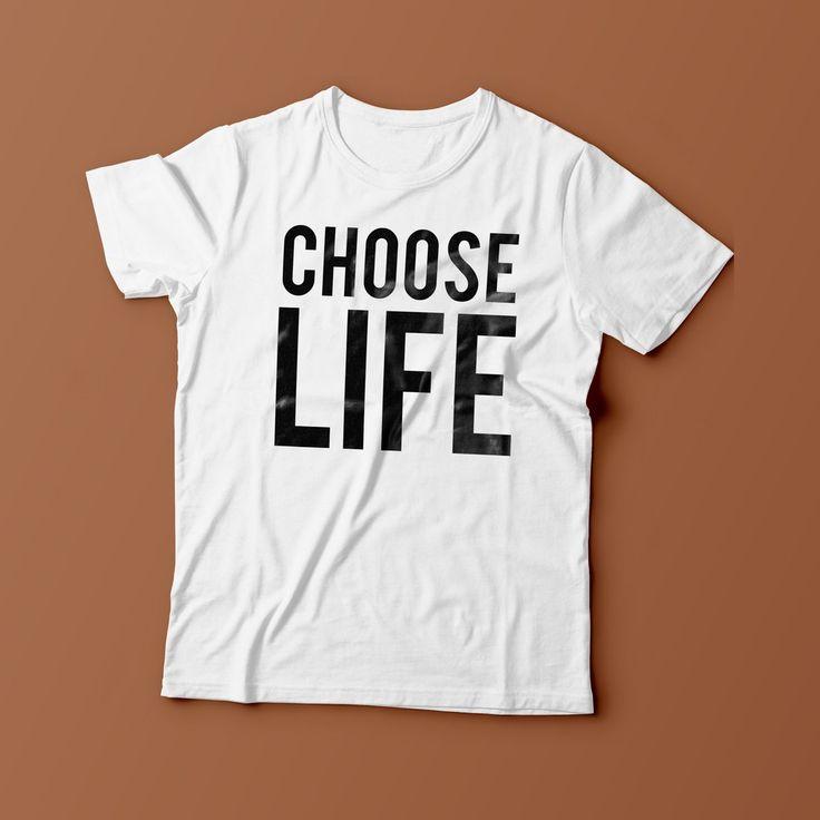 Choose Life George Michael Wham 80s Fashion Unisex Mens Womans T Shirt New S - XXL