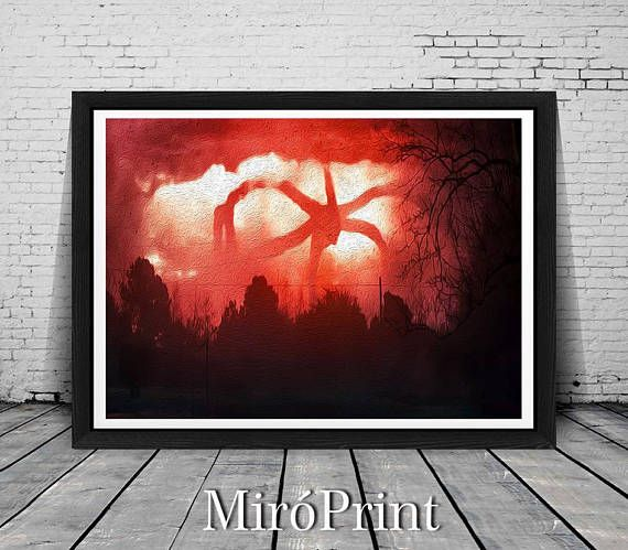 Stranger Things Monster Print, Stranger Things Wall Art, Stranger Things Print, Stranger Things Art, Stranger Things Poster, Monster Poster affiliate
