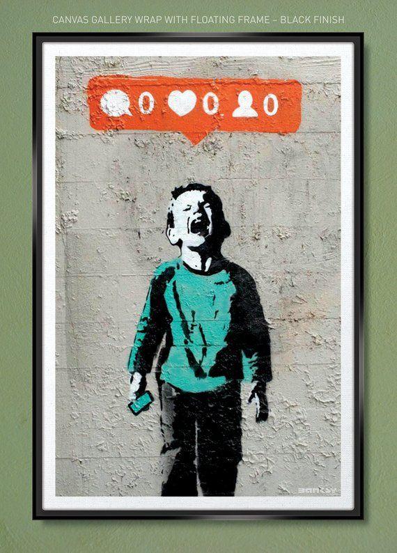 Banksy – Social Media Boy – Nobody Likes Me – Canvas Wrap