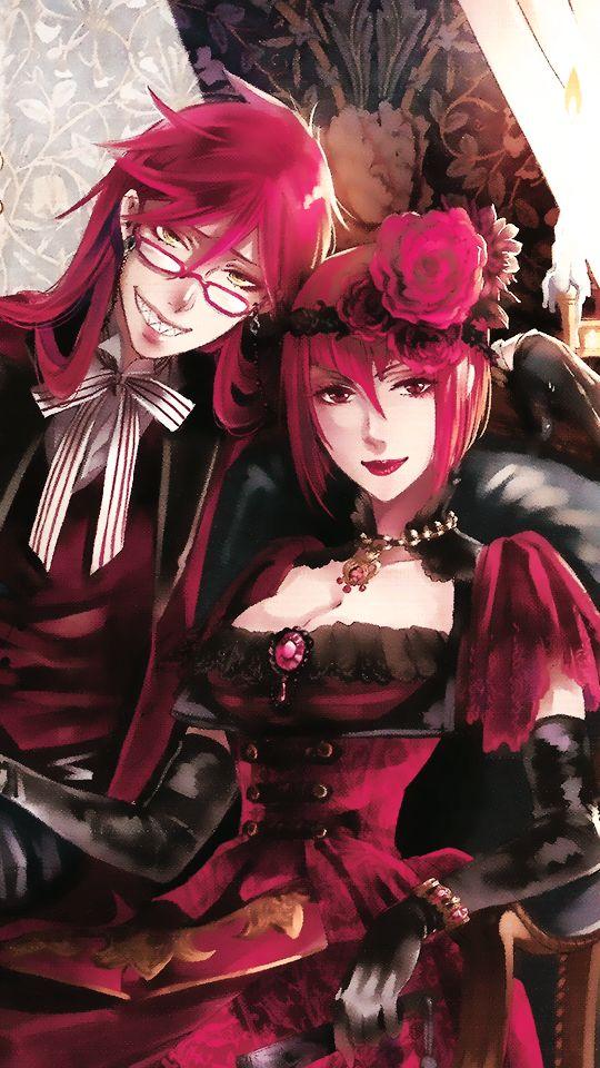 Grell and Angelina (Madame Red) | Kuroshitsuji - Black Butler #Anime #Manga