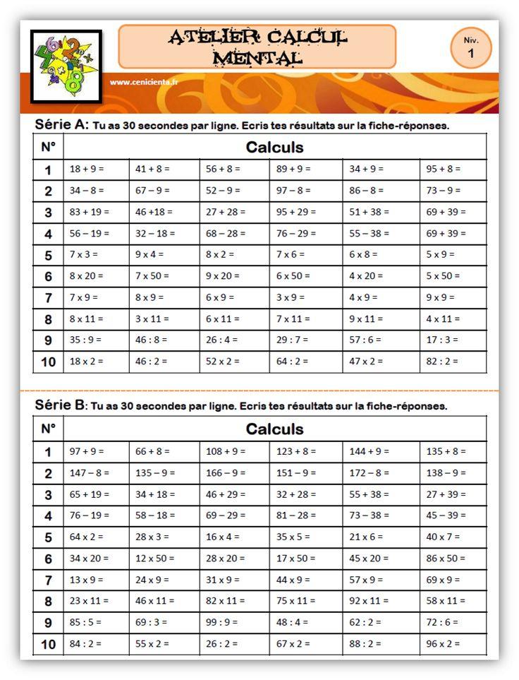 Cm ateliers math matiques calcul pos et calcul for A portee de maths cm2