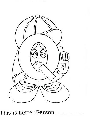 17 best images about letter people on pinterest the for Letter people coloring pages
