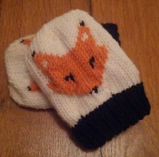 moufles renard enfant modèle tricot gratuit en français